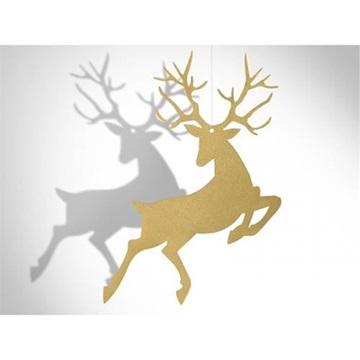Obrázek Závěsná dekorace sob Rudolf 10 ks Zlatá