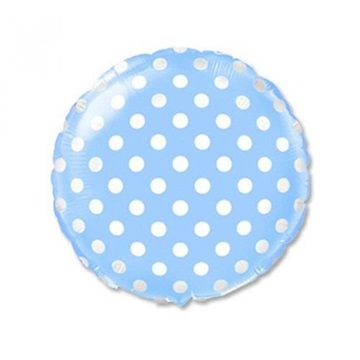 Obrázek Foliový balonek modrý s puntíky 45 cm