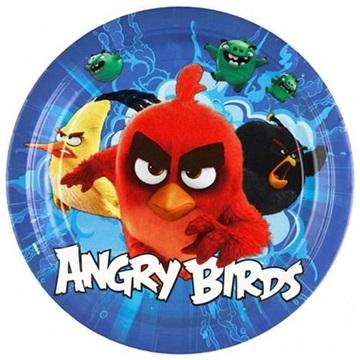 Obrázek Papírové talíře Angry Birds 23 cm - 8 ks