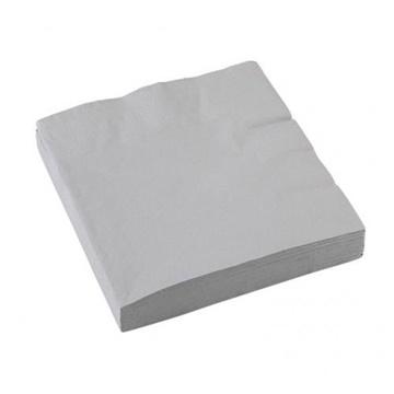 Obrázek Papírové party ubrousky stříbrné 20 ks