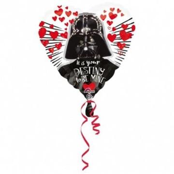 Obrázek Foliový balonek srdce Star Wars Darth Vader 43 cm