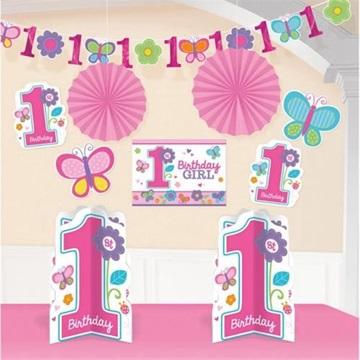Obrázek Dekorační sada - 1. narozeniny holčička