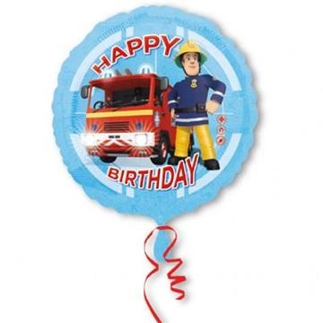 Obrázek Foliový balonek Požárník Sam Happy Birthday 43 cm