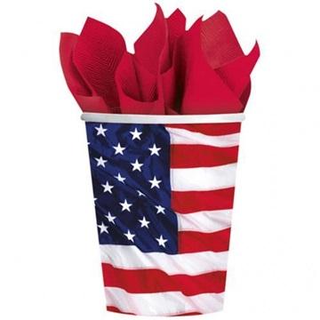 Obrázek Papírové kelímky ve stylu USA 8 ks