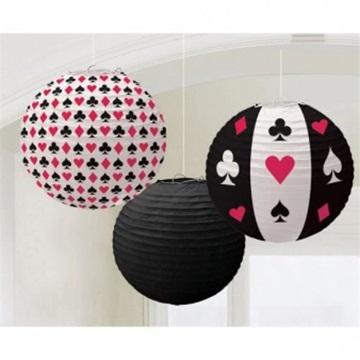 Obrázek Papírové lampiony Casino 3ks