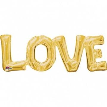 Obrázek Foliový balonek LOVE ve zlaté barvě