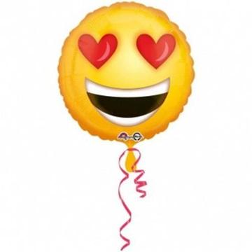 Obrázek Foliový balonek Smajlík - Emoticon Love 43 cm