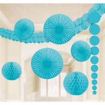 Obrázek Dekorační party sada světle modrá 9 ks