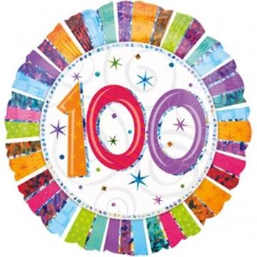 Obrázek Foliový balonek kulatý 100-té narozeniny 45 cm