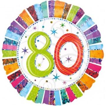 Obrázek Foliový balonek kulatý 80-té narozeniny 45 cm