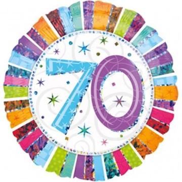Obrázek Foliový balonek kulatý 70-té narozeniny 45 cm