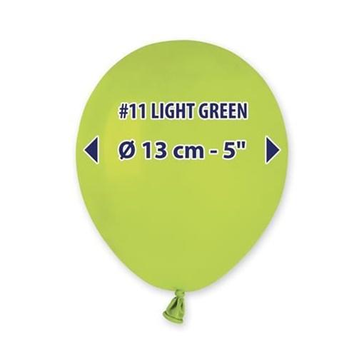 Obrázek z Balonky 13 cm - světle zelená - 100 ks
