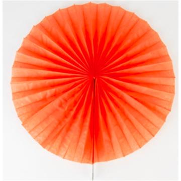 Obrázek Dekorační rozeta oranžová - 40 cm
