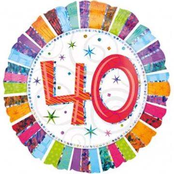 Obrázek Foliový balonek kulatý 40-té narozeniny 45 cm