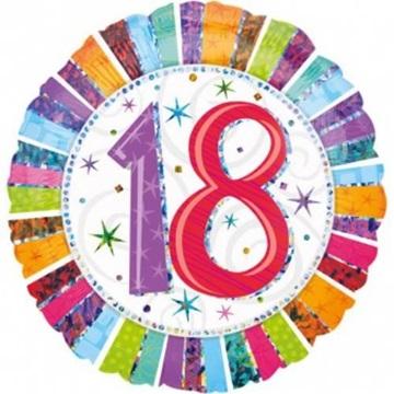 Obrázek Foliový balonek 18-té narozeniny 45 cm
