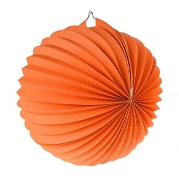 Obrázek Dekorační lampion koule - oranžový 25 cm