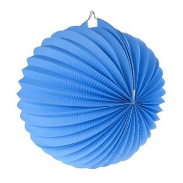 Obrázek Dekorační lampion koule - modrý 25 cm