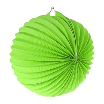 Obrázek Dekorační lampion koule - limetkově zelená 25 cm