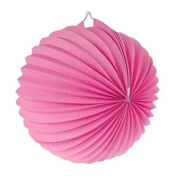 Obrázek Dekorační lampion koule - růžový 25 cm