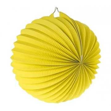 Obrázek Dekorační lampion koule - žlutý 25 cm