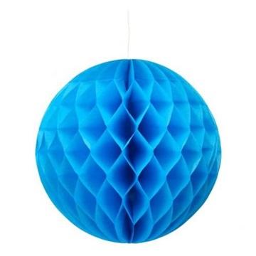 Obrázek Dekorační závěsná koule modrá 30 cm