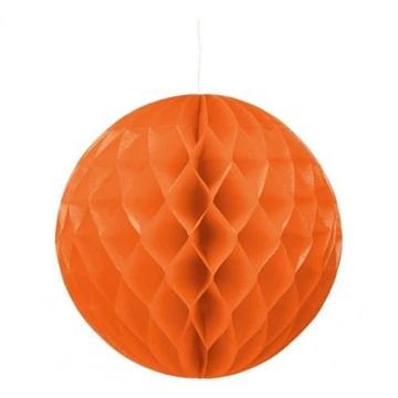 Obrázek Dekorační závěsná koule oranžová 30 cm