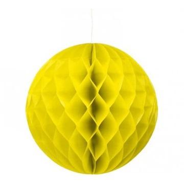 Obrázek Dekorační závěsná koule žlutá 30 cm