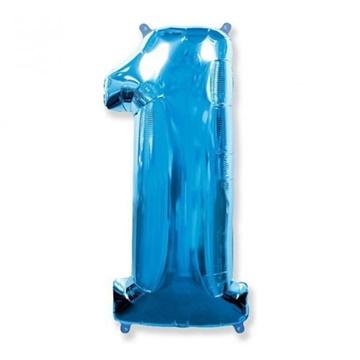 Obrázek Foliová číslice - modrá 1