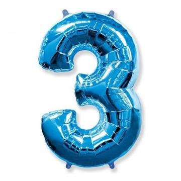 Obrázek Foliová číslice - modrá 3