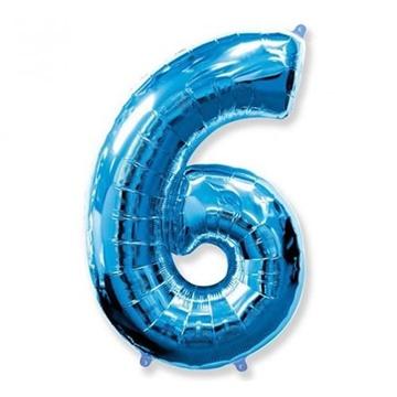 Obrázek Foliová číslice - modrá 6