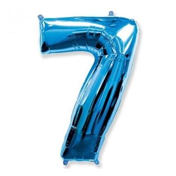 Obrázek Foliová číslice - modrá 7