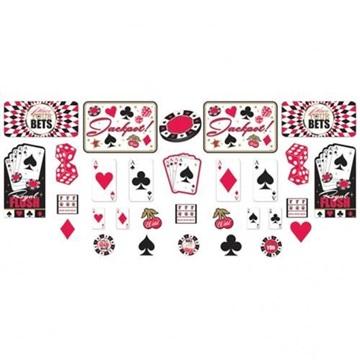 Obrázek Dekorační sada Casino 30 ks