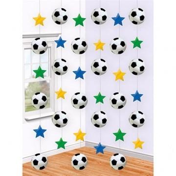 Obrázek Závěsná dekorace fotbal 6 ks
