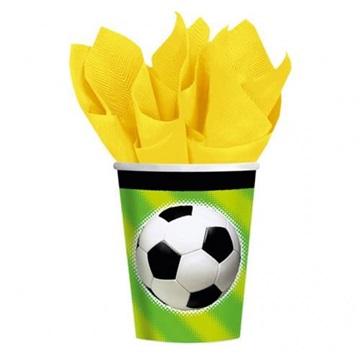 Obrázek Papírové party kelímky fotbal 8 ks