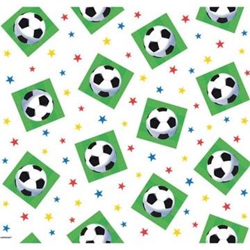 Obrázek Plastový party ubrus fotbalové míče 120 x 180 cm