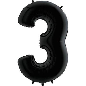 Obrázek Foliová číslice - černá 3