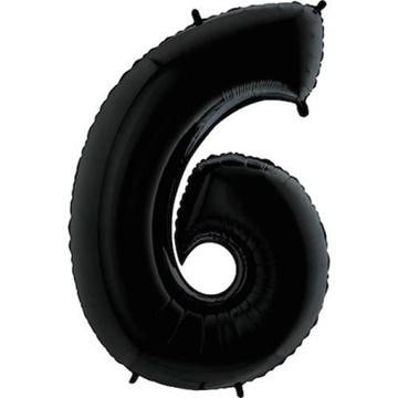 Obrázek Foliová číslice - černá 6