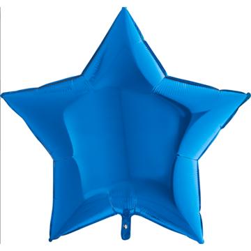 Obrázek Foliový balonek hvězda modrá 85 cm