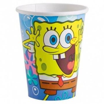 Obrázek Papírové party kelímky Sponge Bob 8 ks