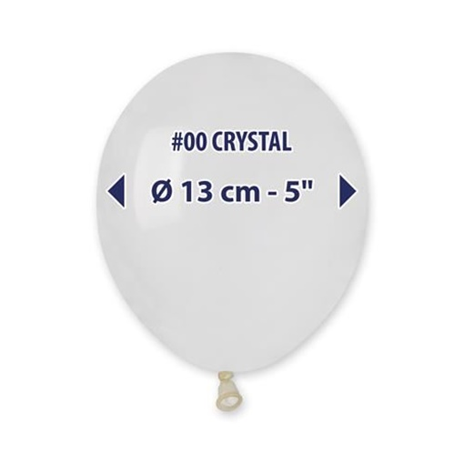 Obrázek z Balonky 13 cm - transparentní - 100 ks