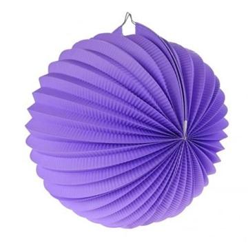 Obrázek Dekorační lampion koule - fialový 25 cm