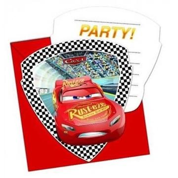Obrázek Party pozvánky Cars 3 6 ks