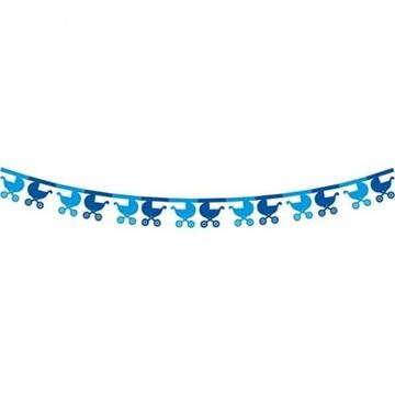 Obrázek Papírová girlanda modré kočárky 360 cm