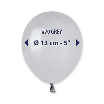 Obrázek Balonky 13 cm - šedé - 100 ks