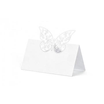 Obrázek Jmenovky ke svatebnímu stolu s motýlkem