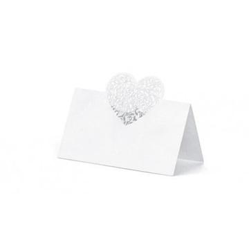 Obrázek Jmenovky ke svatebnímu stolu se srdíčkem 10 ks
