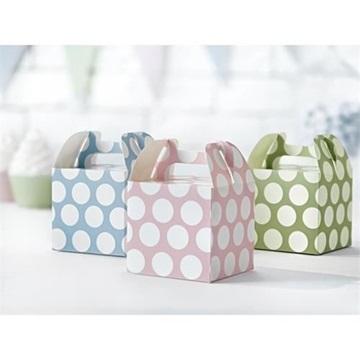 Obrázek Krabičky na cukrovinky s pastelovými puntíky - 6 ks