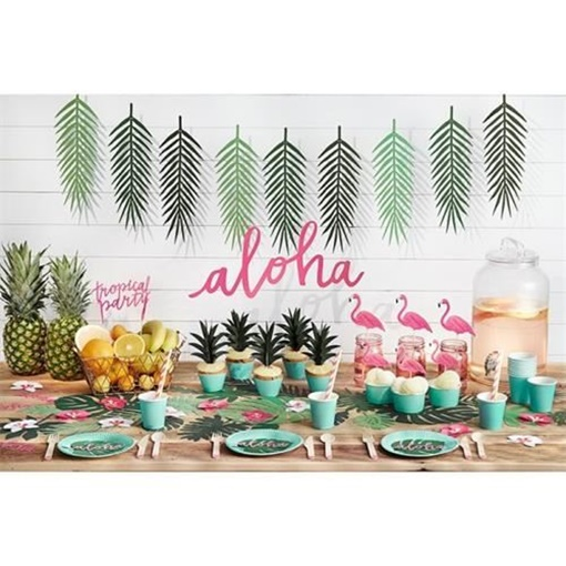 Obrázek z Party nápis havajský Aloha 19 x 47 cm