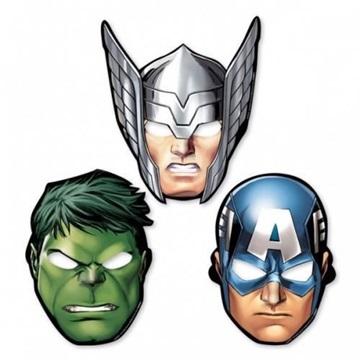 Obrázek Party papírové masky Avengers 8 ks