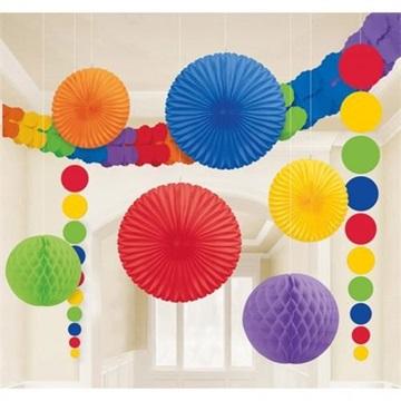 Obrázek Dekorační party sada barevná 9 ks